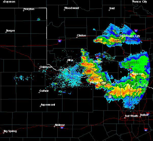 Radar Image for Severe Thunderstorms near Indiahoma, OK at 6/21/2020 7:06 AM CDT