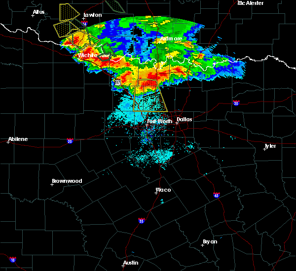 Radar Image for Severe Thunderstorms near Southlake, TX at 6/21/2020 7:24 AM CDT