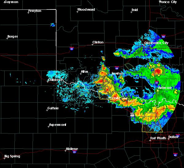 Radar Image for Severe Thunderstorms near Devol, OK at 6/21/2020 7:33 AM CDT