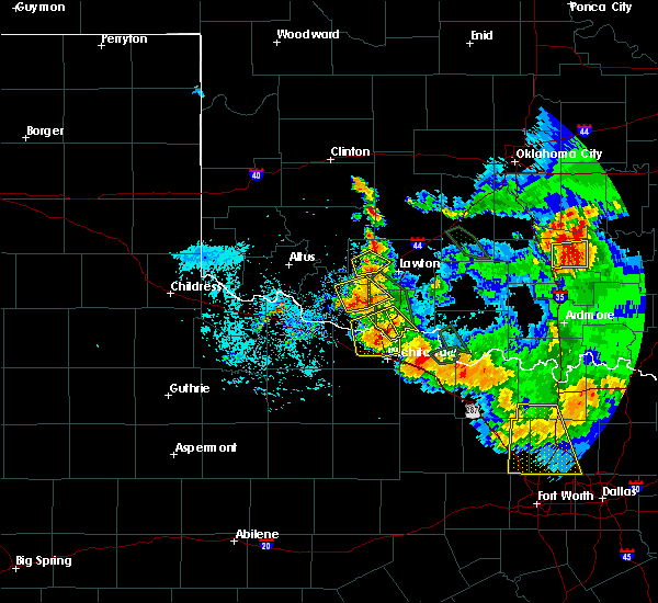 Radar Image for Severe Thunderstorms near Iowa Park, TX at 6/21/2020 7:47 AM CDT