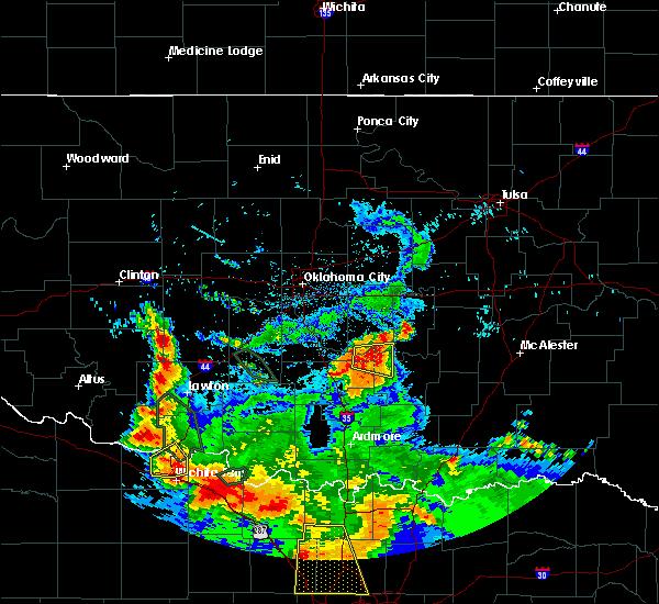 Radar Image for Severe Thunderstorms near Byars, OK at 6/21/2020 8:00 AM CDT