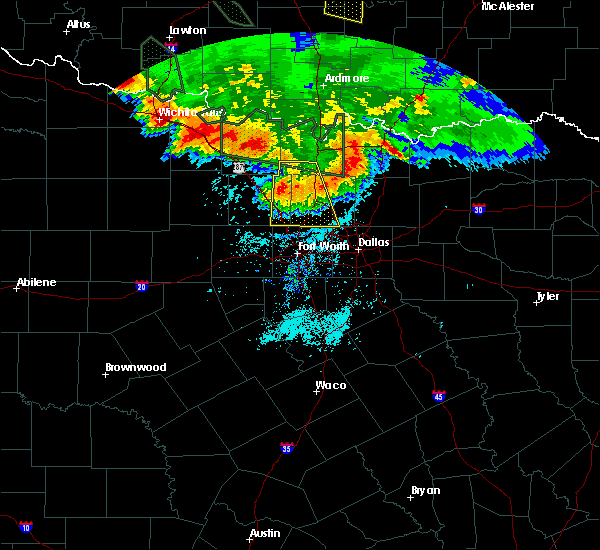 Radar Image for Severe Thunderstorms near Southlake, TX at 6/21/2020 8:06 AM CDT