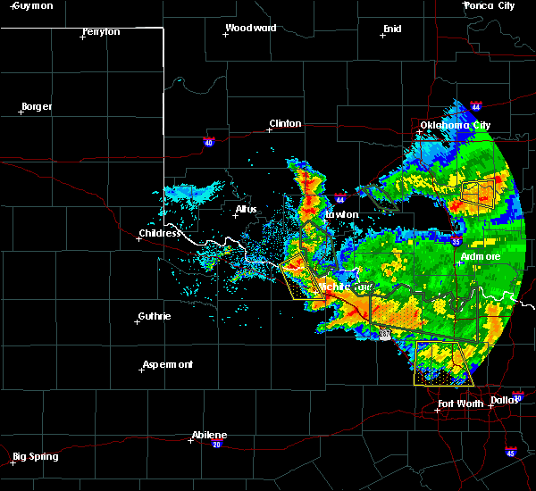 Radar Image for Severe Thunderstorms near Iowa Park, TX at 6/21/2020 8:16 AM CDT