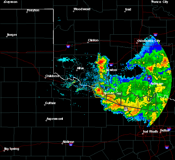 Radar Image for Severe Thunderstorms near Iowa Park, TX at 6/21/2020 8:39 AM CDT