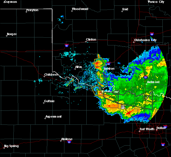 Radar Image for Severe Thunderstorms near Iowa Park, TX at 6/21/2020 8:54 AM CDT