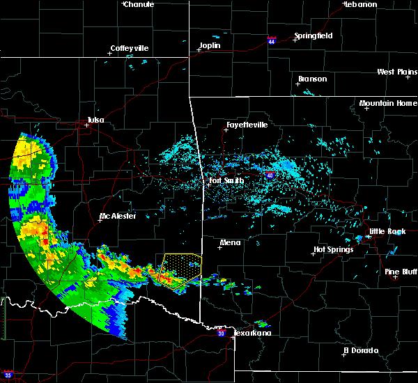 Radar Image for Severe Thunderstorms near Broken Bow, OK at 6/21/2020 8:56 AM CDT
