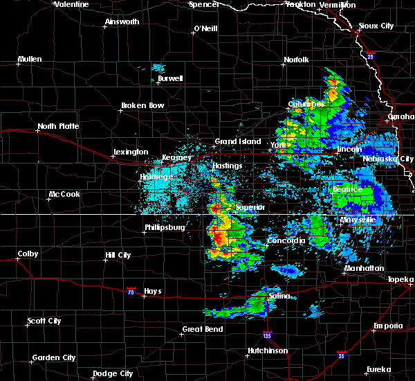 Radar Image for Severe Thunderstorms near Mankato, KS at 6/21/2020 10:22 AM CDT