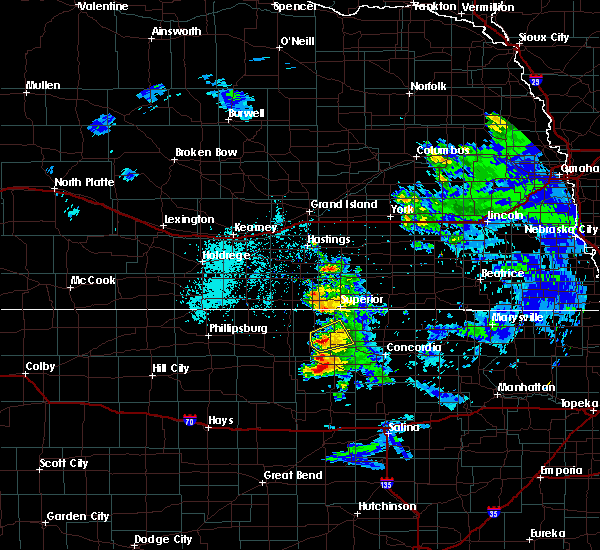 Radar Image for Severe Thunderstorms near Mankato, KS at 6/21/2020 10:44 AM CDT