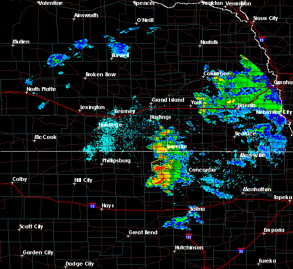 Radar Image for Severe Thunderstorms near Mankato, KS at 6/21/2020 10:57 AM CDT