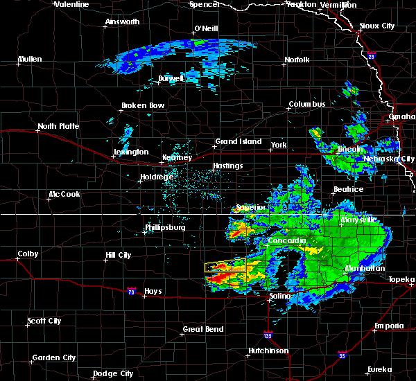 Radar Image for Severe Thunderstorms near Hunter, KS at 6/21/2020 12:12 PM CDT