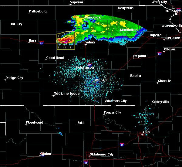 Radar Image for Severe Thunderstorms near Ellsworth, KS at 6/21/2020 1:04 PM CDT