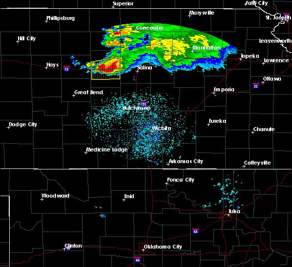 Radar Image for Severe Thunderstorms near Ellsworth, KS at 6/21/2020 1:21 PM CDT