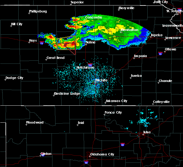 Radar Image for Severe Thunderstorms near Brookville, KS at 6/21/2020 1:46 PM CDT