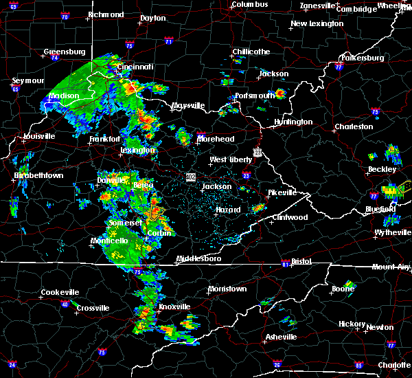 Radar Image for Severe Thunderstorms near McKee, KY at 6/21/2020 3:18 PM EDT