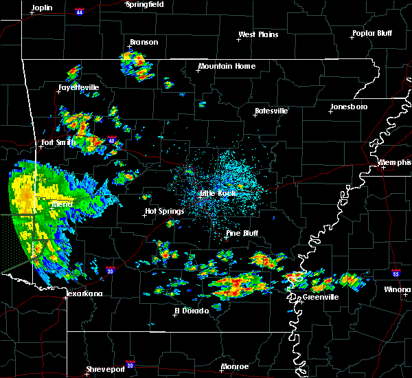 Radar Image for Severe Thunderstorms near Wilmar, AR at 6/21/2020 2:26 PM CDT