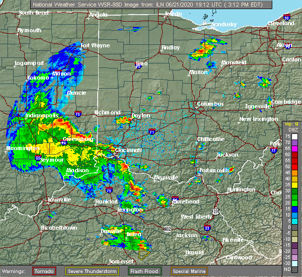 Radar Image for Severe Thunderstorms near Loveland, OH at 6/21/2020 3:27 PM EDT