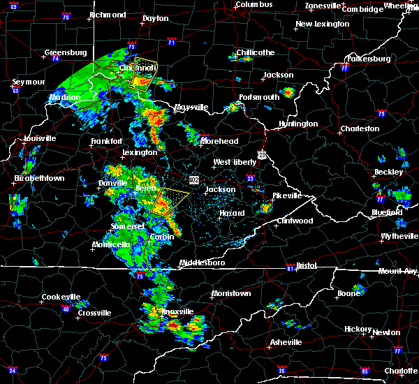 Radar Image for Severe Thunderstorms near McKee, KY at 6/21/2020 3:34 PM EDT