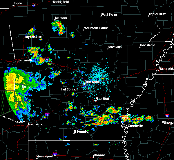 Radar Image for Severe Thunderstorms near Monticello, AR at 6/21/2020 2:36 PM CDT