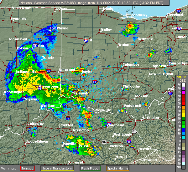 Radar Image for Severe Thunderstorms near Loveland, OH at 6/21/2020 3:36 PM EDT