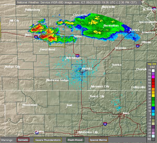 Radar Image for Severe Thunderstorms near Dorrance, KS at 6/21/2020 2:40 PM CDT