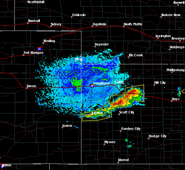 Radar Image for Severe Thunderstorms near Marienthal, KS at 6/21/2020 2:40 PM CDT
