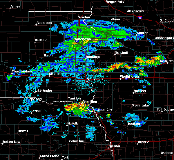 Radar Image for Severe Thunderstorms near Currie, MN at 6/21/2020 2:43 PM CDT