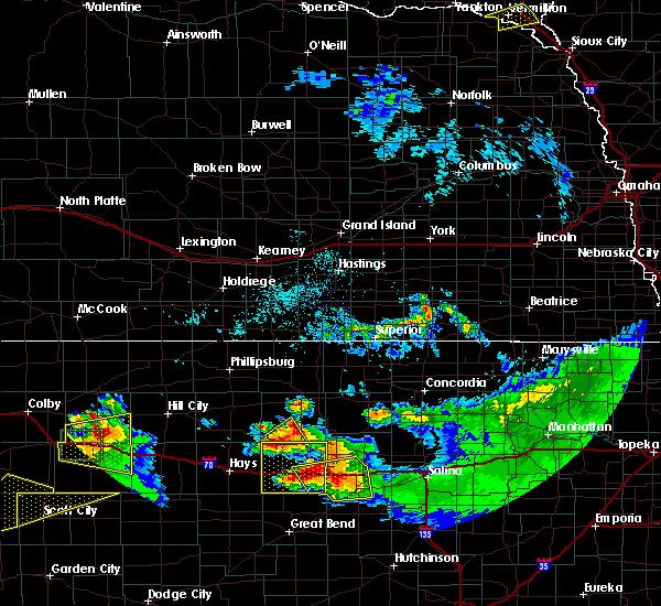 Radar Image for Severe Thunderstorms near Dorrance, KS at 6/21/2020 2:47 PM CDT