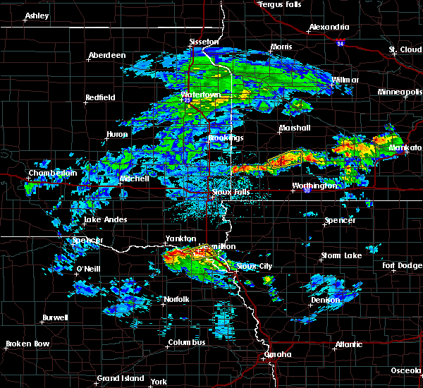 Radar Image for Severe Thunderstorms near Vermillion, SD at 6/21/2020 2:58 PM CDT
