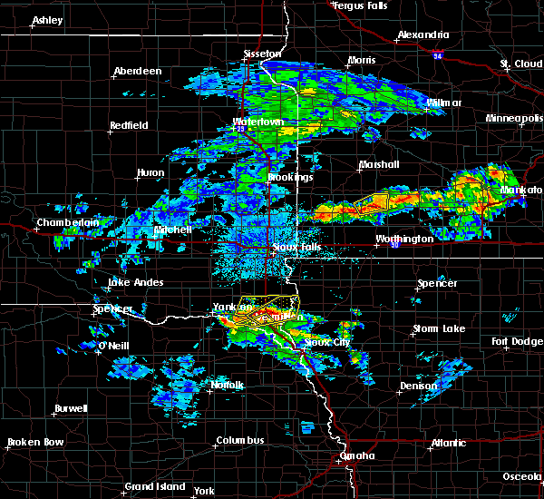 Radar Image for Severe Thunderstorms near Beresford, SD at 6/21/2020 3:10 PM CDT