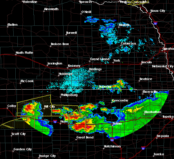 Radar Image for Severe Thunderstorms near Damar, KS at 6/21/2020 3:14 PM CDT