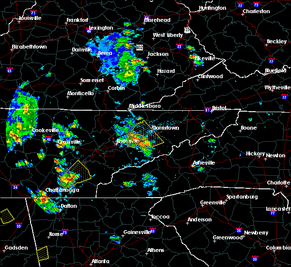 Radar Image for Severe Thunderstorms near Morristown, TN at 6/21/2020 4:13 PM EDT