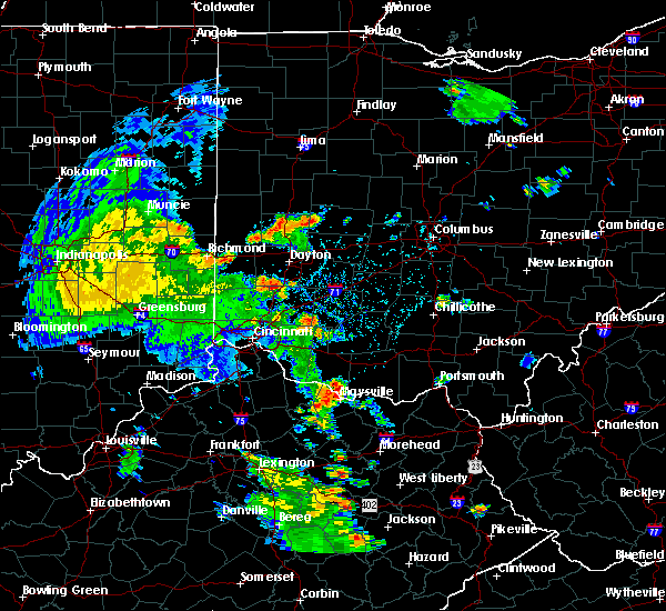 Radar Image for Severe Thunderstorms near Springfield, OH at 6/21/2020 4:23 PM EDT