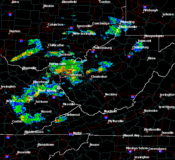 Radar Image for Severe Thunderstorms near Athalia, OH at 6/29/2015 6:54 PM EDT