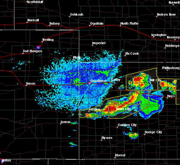 Radar Image for Severe Thunderstorms near Marienthal, KS at 6/21/2020 3:28 PM CDT
