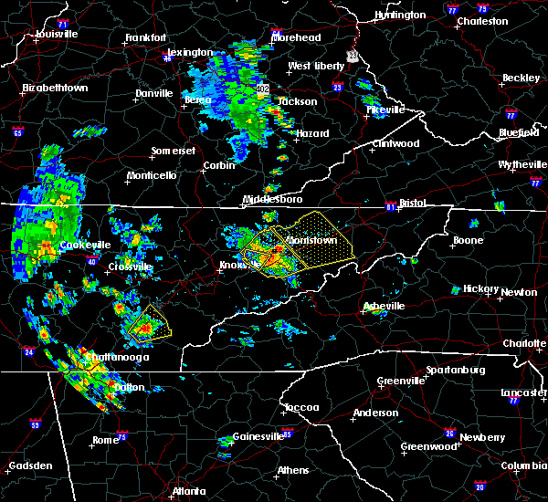 Radar Image for Severe Thunderstorms near Morristown, TN at 6/21/2020 4:34 PM EDT