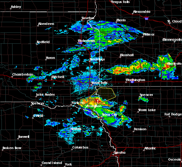 Radar Image for Severe Thunderstorms near Beresford, SD at 6/21/2020 3:39 PM CDT