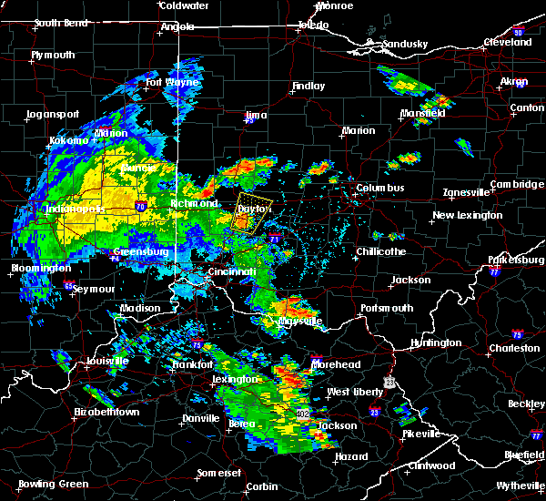 Radar Image for Severe Thunderstorms near Springfield, OH at 6/21/2020 4:40 PM EDT