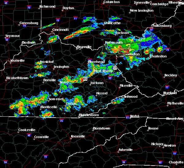 Radar Image for Severe Thunderstorms near Jackson, KY at 6/29/2015 6:56 PM EDT
