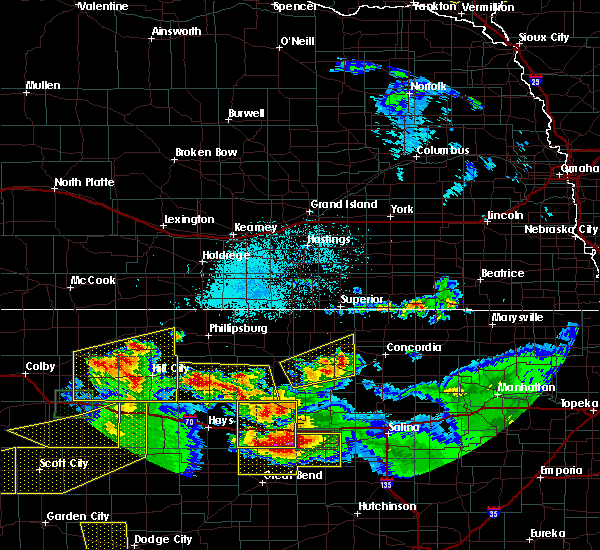Radar Image for Severe Thunderstorms near Damar, KS at 6/21/2020 3:49 PM CDT