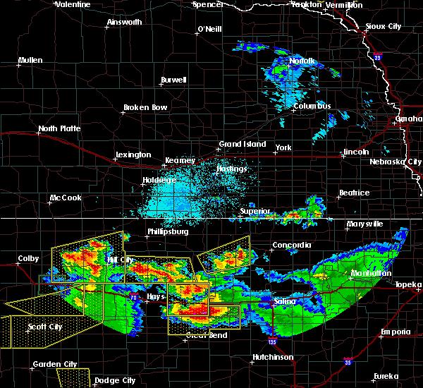 Radar Image for Severe Thunderstorms near Bogue, KS at 6/21/2020 3:51 PM CDT