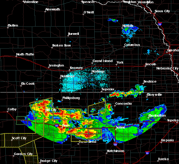 Radar Image for Severe Thunderstorms near Damar, KS at 6/21/2020 4:00 PM CDT