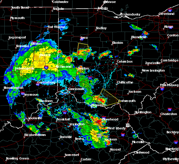 Radar Image for Severe Thunderstorms near Anna, OH at 6/21/2020 5:00 PM EDT