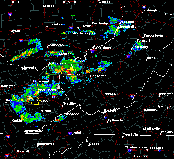 Radar Image for Severe Thunderstorms near Athalia, OH at 6/29/2015 6:57 PM EDT