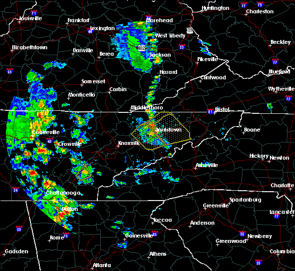 Radar Image for Severe Thunderstorms near Morristown, TN at 6/21/2020 5:00 PM EDT