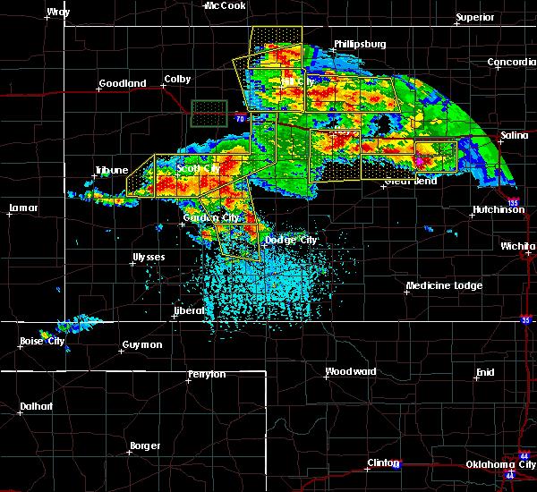 Radar Image for Severe Thunderstorms near Utica, KS at 6/21/2020 4:17 PM CDT