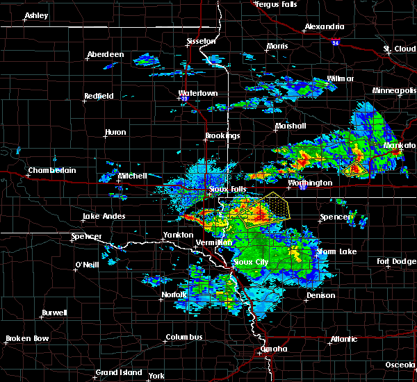 Radar Image for Severe Thunderstorms near George, IA at 6/21/2020 4:20 PM CDT