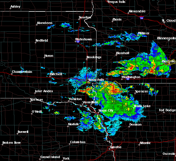 Radar Image for Severe Thunderstorms near Spencer, IA at 6/21/2020 4:25 PM CDT