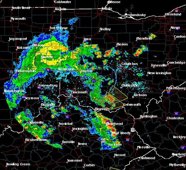 Radar Image for Severe Thunderstorms near West Union, OH at 6/21/2020 5:26 PM EDT