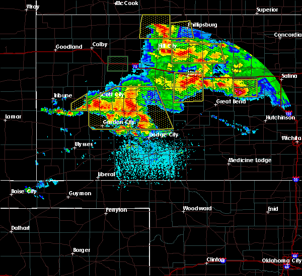 Radar Image for Severe Thunderstorms near Ellis, KS at 6/21/2020 4:27 PM CDT