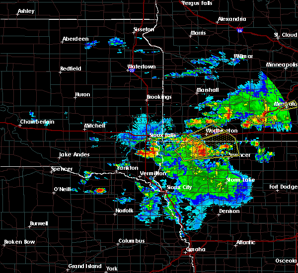 Radar Image for Severe Thunderstorms near Kinbrae, MN at 6/21/2020 4:31 PM CDT